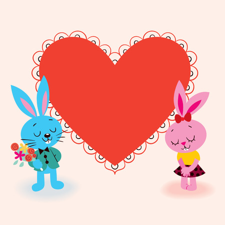 Valentine card for your text Vector