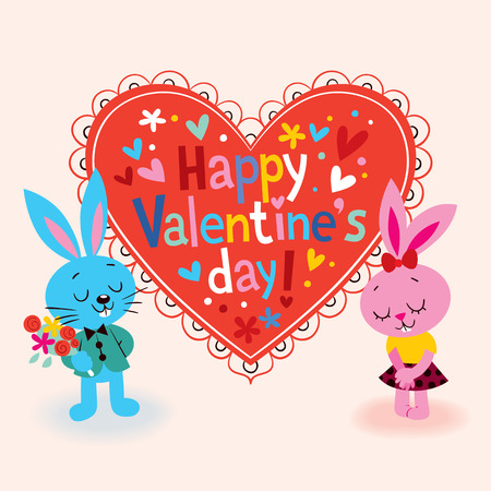 Happy Valentine s day card Vector