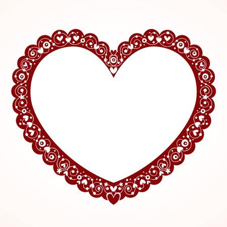 saint valentin coeur: Valentine heart frame