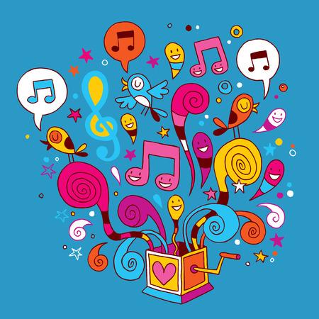 boite a musique: bo�te � musique illustration