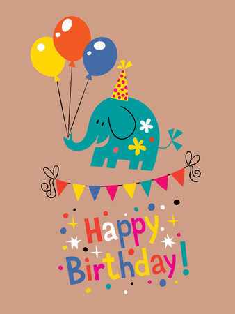 catchy: happy birthday card design