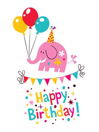 Tarjeta de cumpleaños feliz Foto de archivo - 31809983