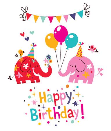 globos de cumpleaños: tarjeta de cumpleaños feliz