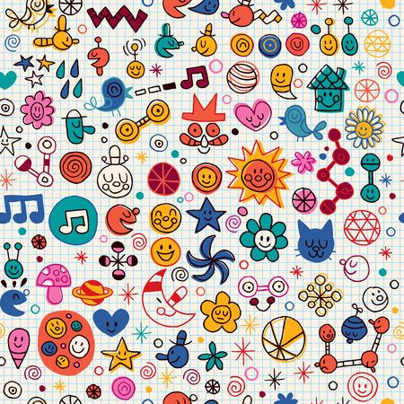 cartoon summer: fun cartoon pattern
