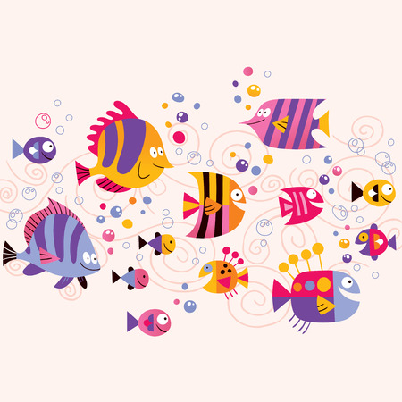 colorful fish: Fish Illustration