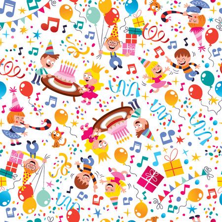 Alles Gute zum Geburtstag Kinder party Muster Standard-Bild - 31818134