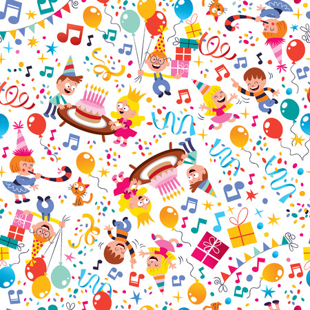 Happy Birthday kids party pattern Imagens - 31818134