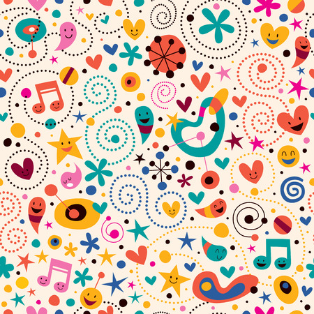 fun cartoon pattern
