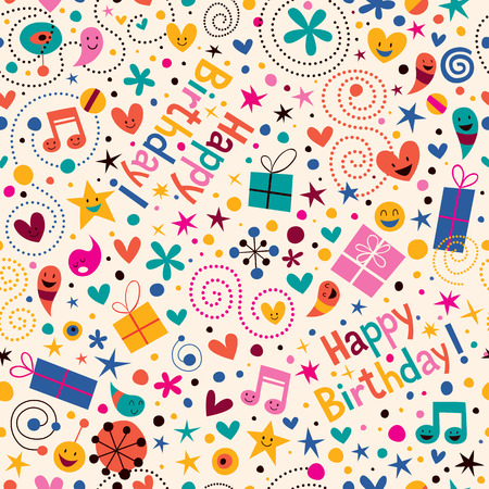 birthday party: Happy Birthday pattern
