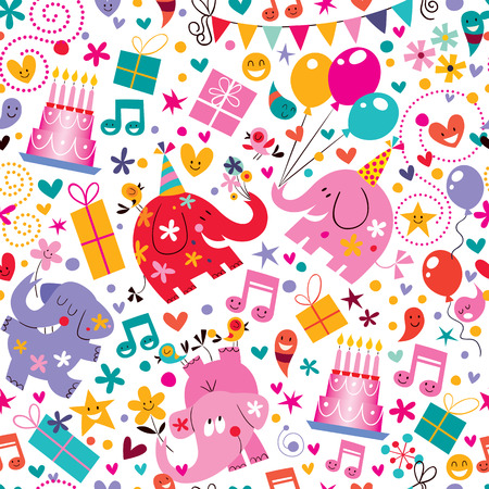 wrapping paper: Happy Birthday pattern