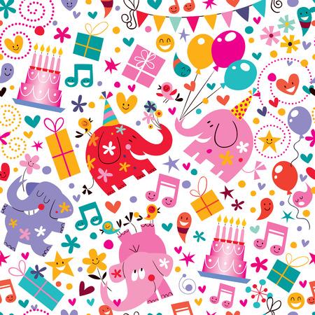 globos de cumplea�os: Patr�n de Feliz Cumplea�os