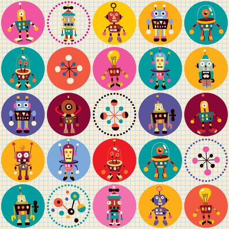 computadora caricatura: patrón de robots