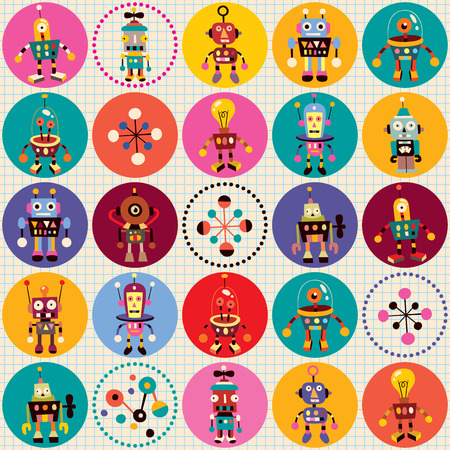 robots pattern Иллюстрация