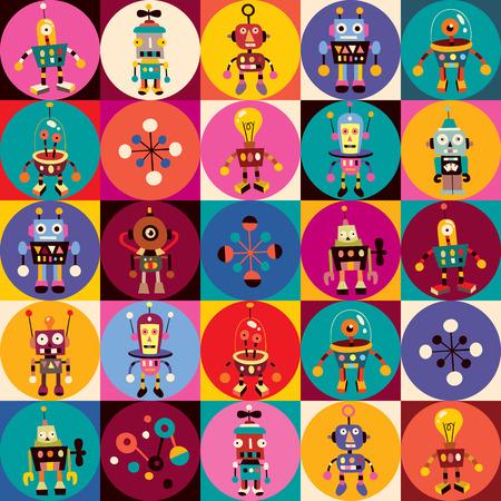 funny robot: robots pattern Illustration