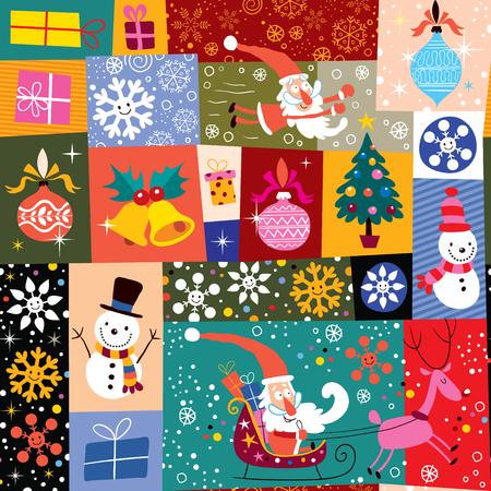 christmas santa: Christmas pattern