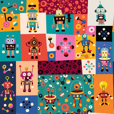 robots pattern Vector
