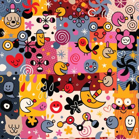 workbook: fun cartoon pattern