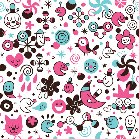 fun cartoon pattern Vector