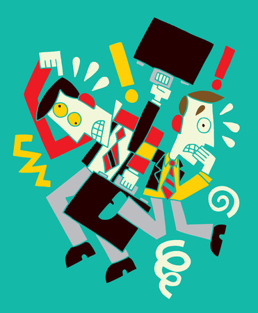 work stress: Two businessman Illustration