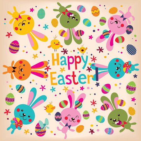 easter bunny: Happy Easter Illustration