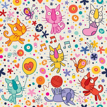 kittens pattern Vector