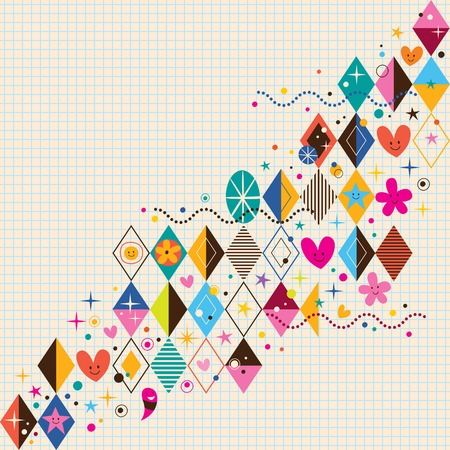 decorate notebook: fun diamond background Illustration