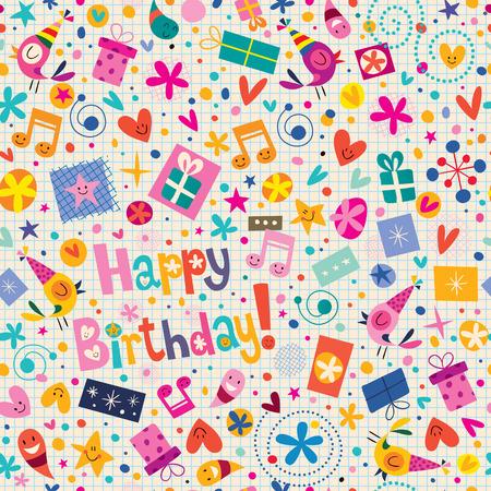 생일 축하 패턴 일러스트