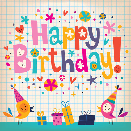 Gelukkige Verjaardag kaart