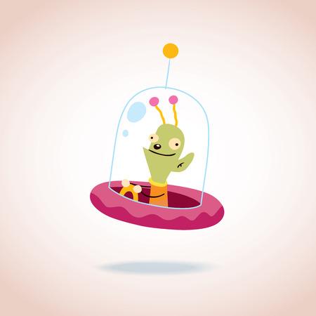 cute alien: cute alien character