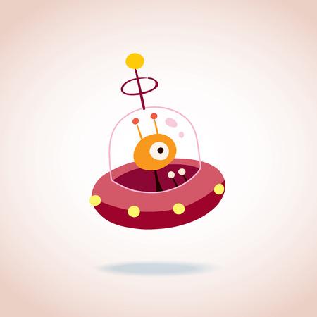 cute alien character Vector