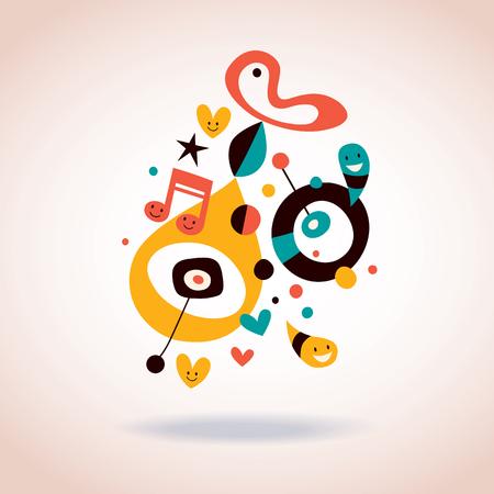 arte abstrata: ilustra��o da arte abstrata Ilustra��o