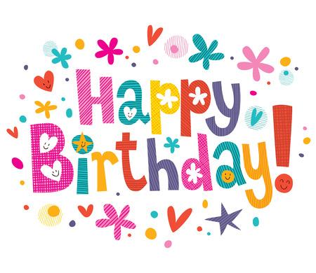 Happy Birthday text  イラスト・ベクター素材