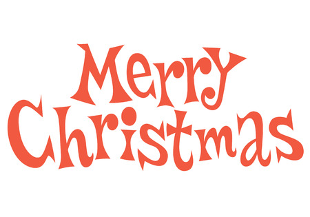 Merry Christmas text lettering Imagens - 32044394