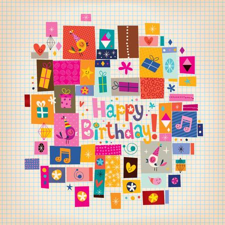 誕生日カード  イラスト・ベクター素材