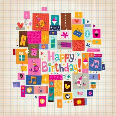 생일 축하 카드 일러스트