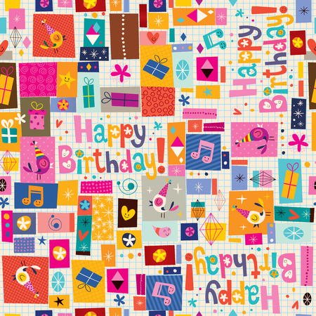 greeting card backgrounds: Happy Birthday pattern