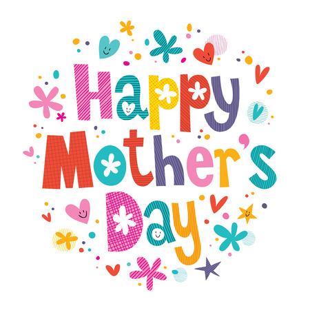 Feliz Día de las Madres Foto de archivo - 32124174