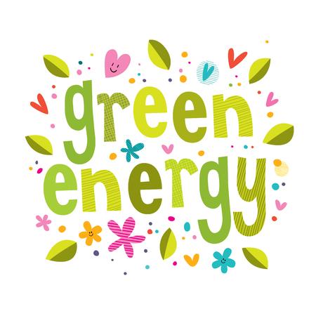 La energía verde Ilustración de vector