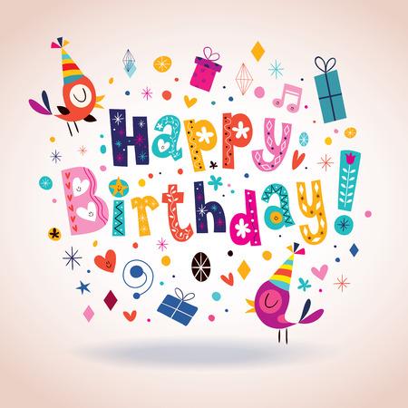 Tarjeta de feliz cumpleaños Foto de archivo - 32233430