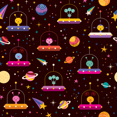space invaders: aliens space pattern Illustration