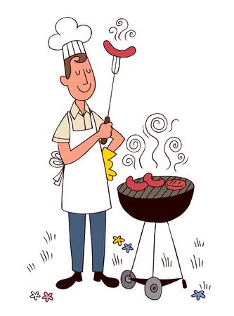 barbecue chef Vector