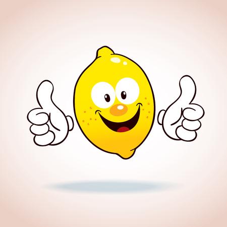 limon caricatura: limón personaje de dibujos animados de la mascota