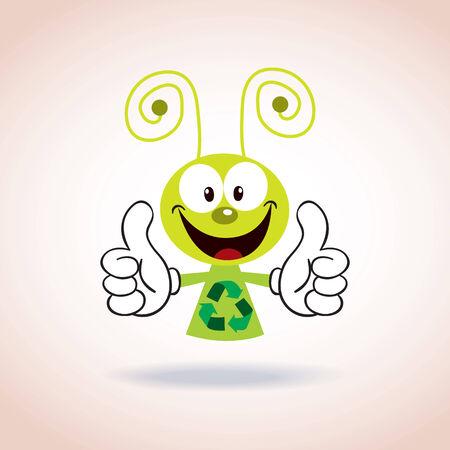basura organica: reciclaje personaje de dibujos animados de la mascota