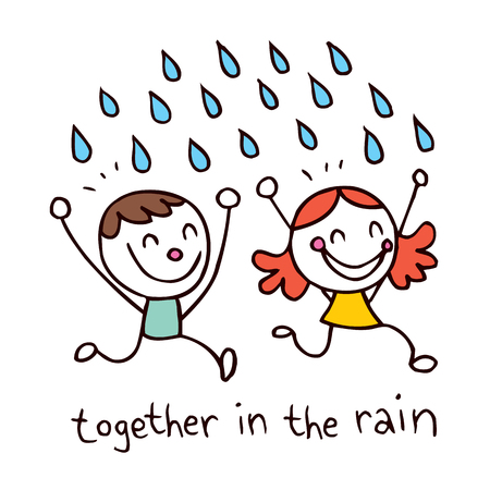 Together in the rain Vector