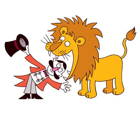 Domador de leones Foto de archivo - 32233578