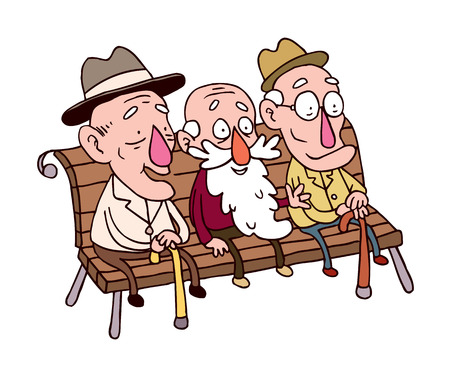 Image result for three old men on a bench