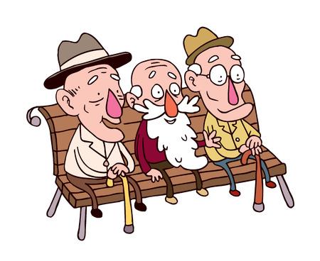 tres hombres de edad