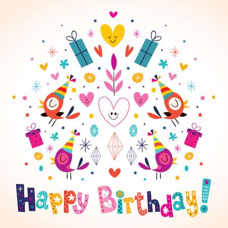 Carte de joyeux anniversaire Banque d'images - 32233616