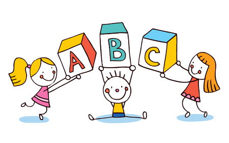 ABC letters kids education Vector