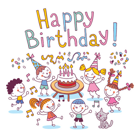 Gelukkige Verjaardag kinderen